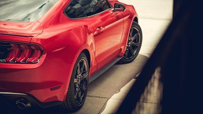 2019 Ford Mustang Red 2.3 L Engine
