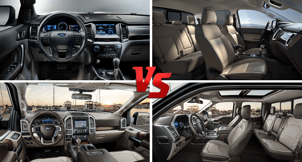 Ford Ranger Vs Ford F 350 Interior Seating and Infotainment