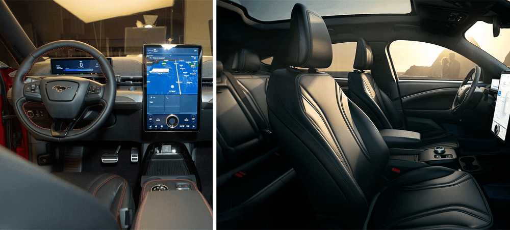 2021 Ford Mustang Mach-E Interior tech and seating